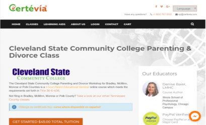 Cleveland State Community College Online Parenting Divorce Class