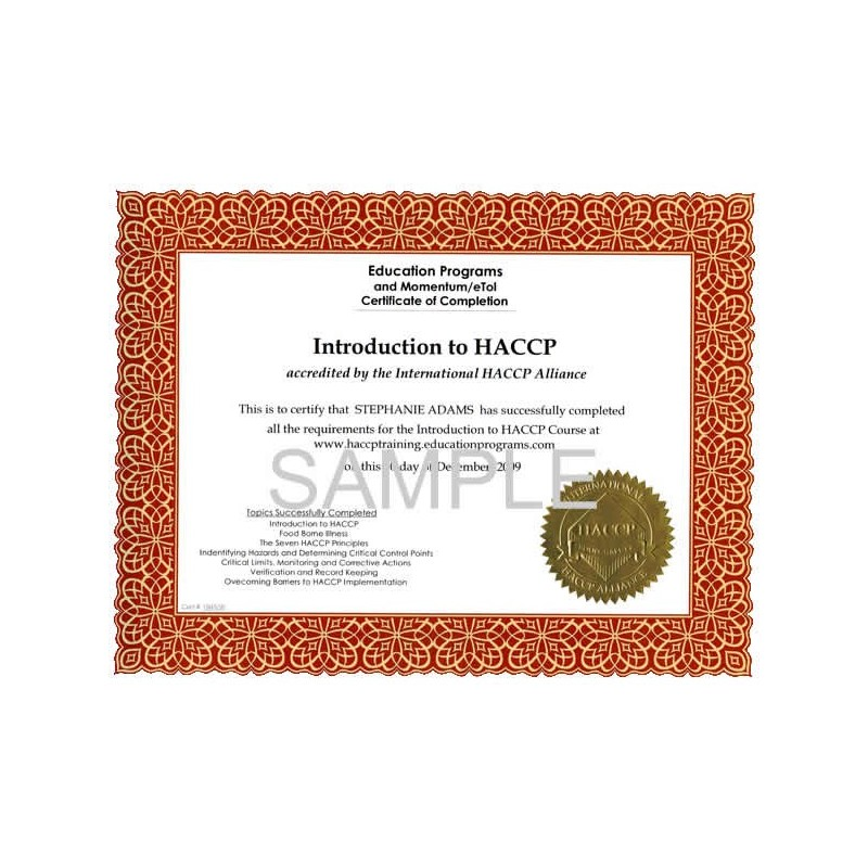 HACCP Principles- Certevia